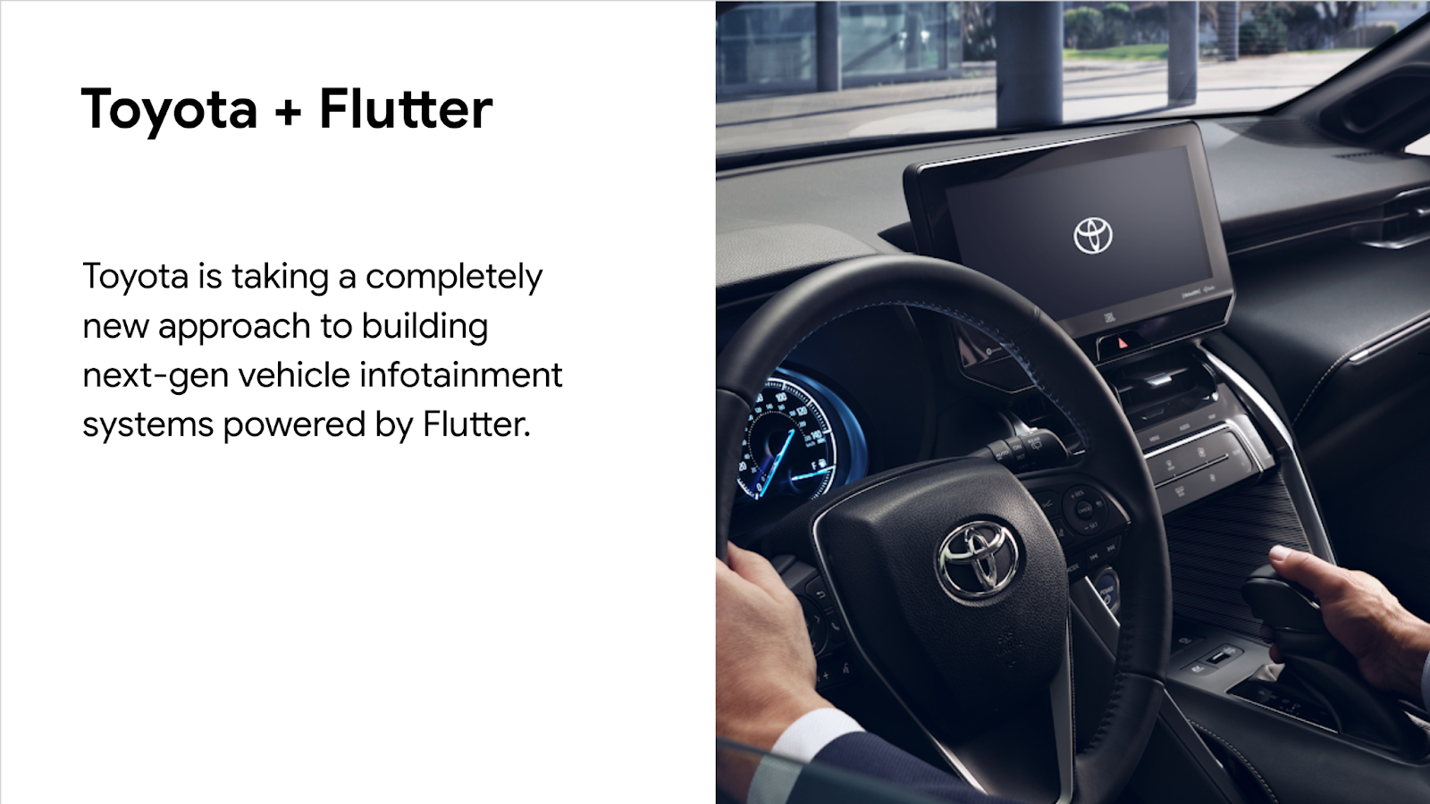 Toyota using Flutter in vehicle infotainment systems