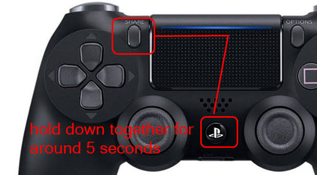 Playstation share button is mostly use for Bluetooth connectivity.It will connect your device