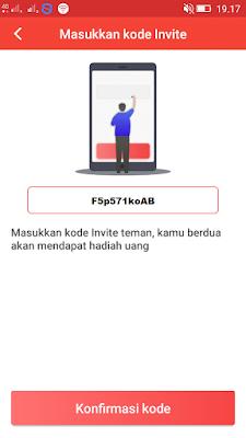 cara memasukan kode undangan di aplikasi baca plus