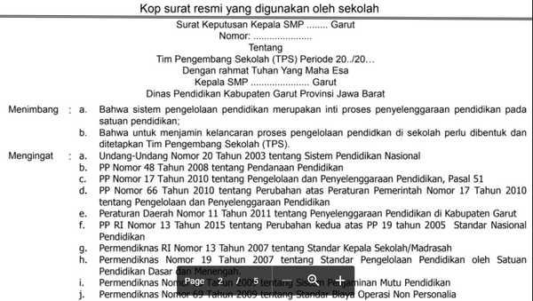 SK Tim Pengembang Sekolah Siap Pakai