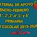 """MATERIAL DE APOYO  """"enero-febrero"""" PARA 1º,2º,3º,4º,5º Y 6º PRIMARIA CICLO ESCOLAR 2019-2020."""