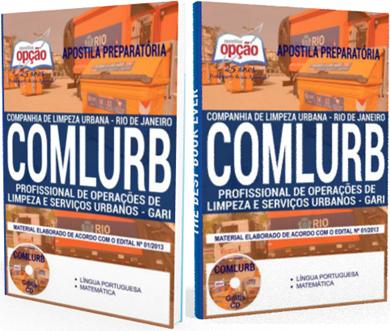 apostila da COMLURB 2018 - Profissional de Operações de Limpeza e Serviços Urbanos - Gari