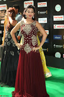 Tejaswini in Maroon Floor length Gown at IIFA Utsavam Awards 015.JPG