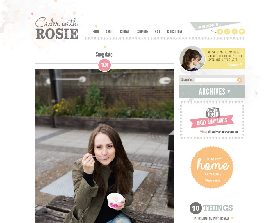 How to have a successful blog, Cider With Rosie