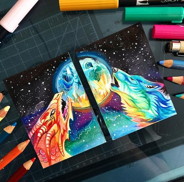 gambar keren kreatif dan menarik dengan menggunakan pensil warna-11