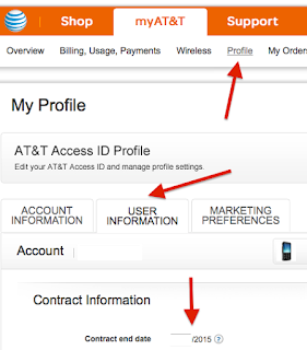 AT&T profile info needed to unlock phones
