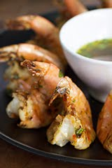 Spicy Butterflied Jumbo Shrimp w/ Yuzu Kosho Marinade and Dipping Sauce