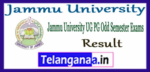 Jammu University UG PG 1st 3rd 5th 7th Semester Result 2017