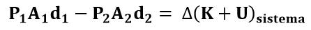 Expresión sustituida de la ecuación de Bernoulli
