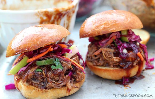BBQ Pulled Pork Sliders with Vinegar Slaw