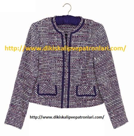 chanel tarzı ceket kalıbı ve yapılışı