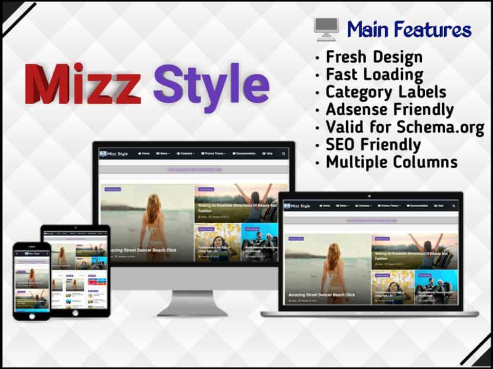 Mizz Style Template