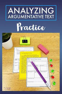 To process argumentative text analysis, I use a menu with two options to get better buy-in from my middle school students.