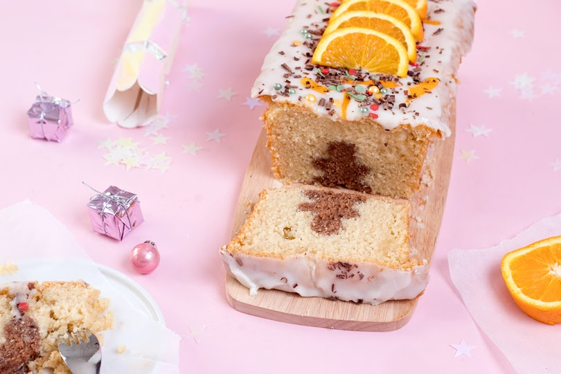 chocolate orange hidden loaf cake