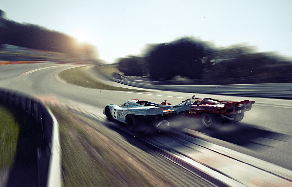 Clash Of The Titans Once Again: Porsche 917 And Ferrari