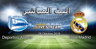 real madrid vs deportivo alaves 29-10-2016