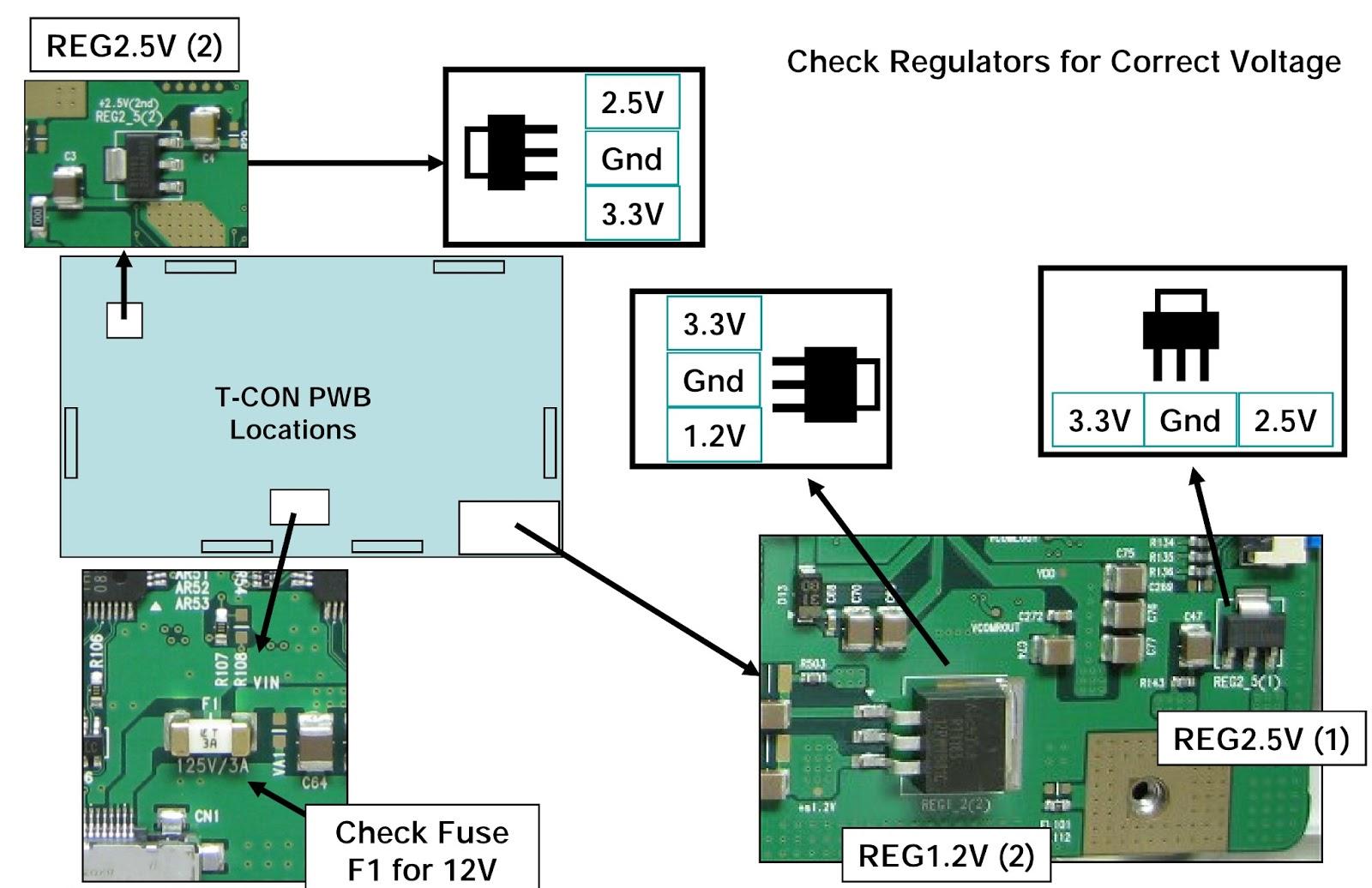 hight resolution of lg 47lg90 led lcd tv t con board voltage check fuse check circuit board computer t con board circuit diagram