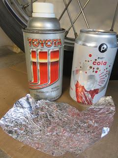 Chrome polish, diet cola and aluminum foil.