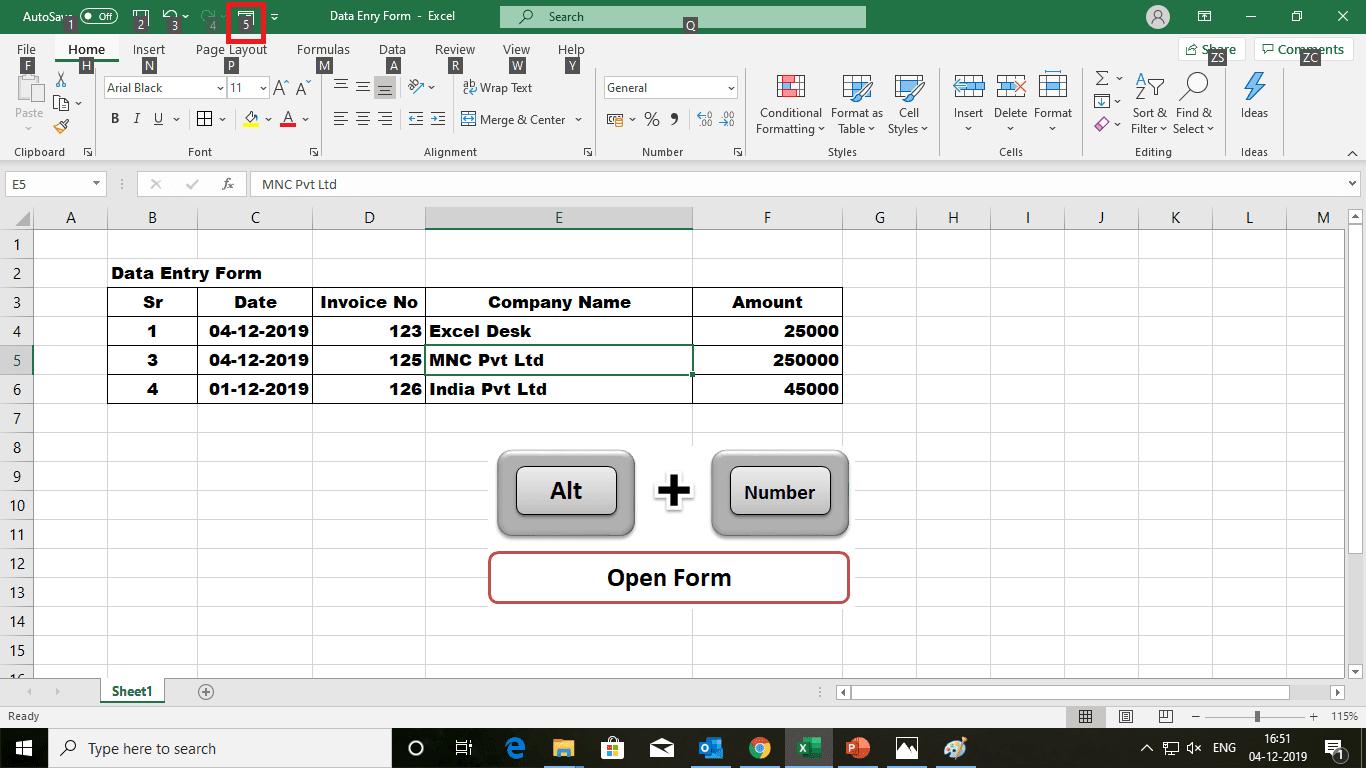 MS Excel Function Data Entry Form - एक्सेल एक्सपर्ट बनो | डाटा एंट्री फॉर्म बनाओ सिर्फ एक क्लिक पर | ना VBA Coding ना काम्प्लेक्स फार्मूला | Data entry form in excel |