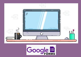 Gambar monitor dengan layar Google Form