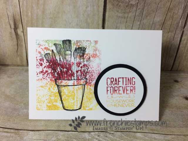 Stampin'Up! Crafting Forever Baby wipe with ink