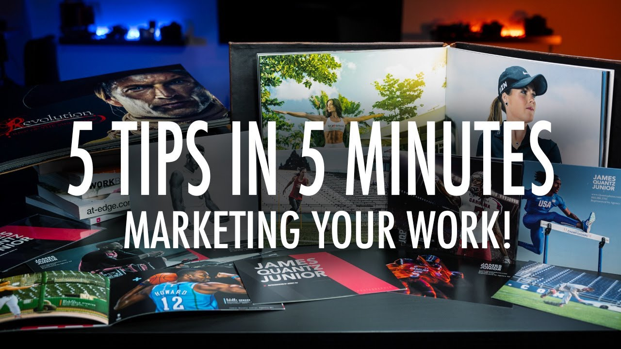 FIVE Marketing Tips in Five(ish) Minutes! Market YOUR work and LAND Jobs!