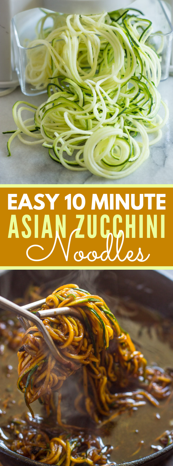 EASY 10 MINUTE ASIAN ZUCCHINI NOODLES (low-carb, Paleo) #diet #vegetariandiet