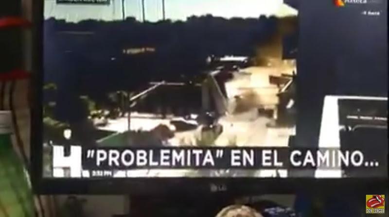 TV Azteca reseña una escena de la película Capitán américa al confundirla con un accidente real