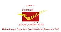 Madhya Pradesh Postal Circle Gramin Dak Sevak Recruitment