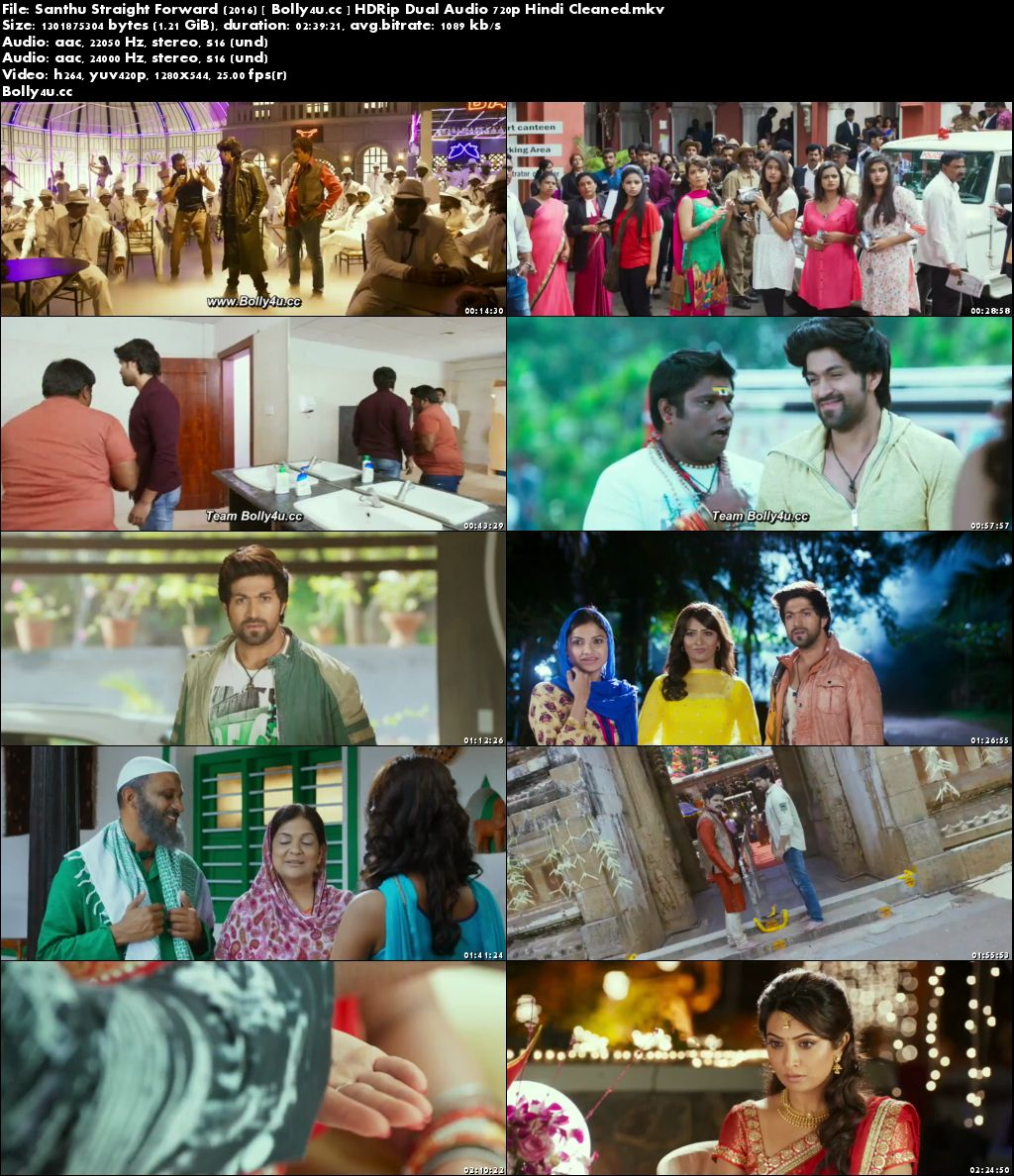 Santhu Straight Forward 2016 HDRip Hindi Dual Audio 720p Download
