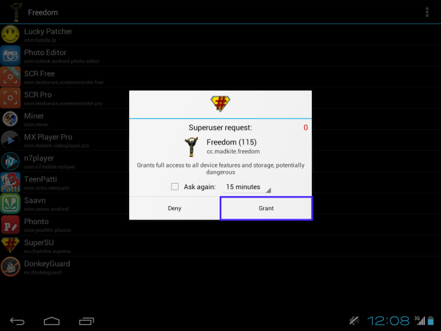 Freedom APK ~ Unlimited In-App Purchases Hack Screenshots 2