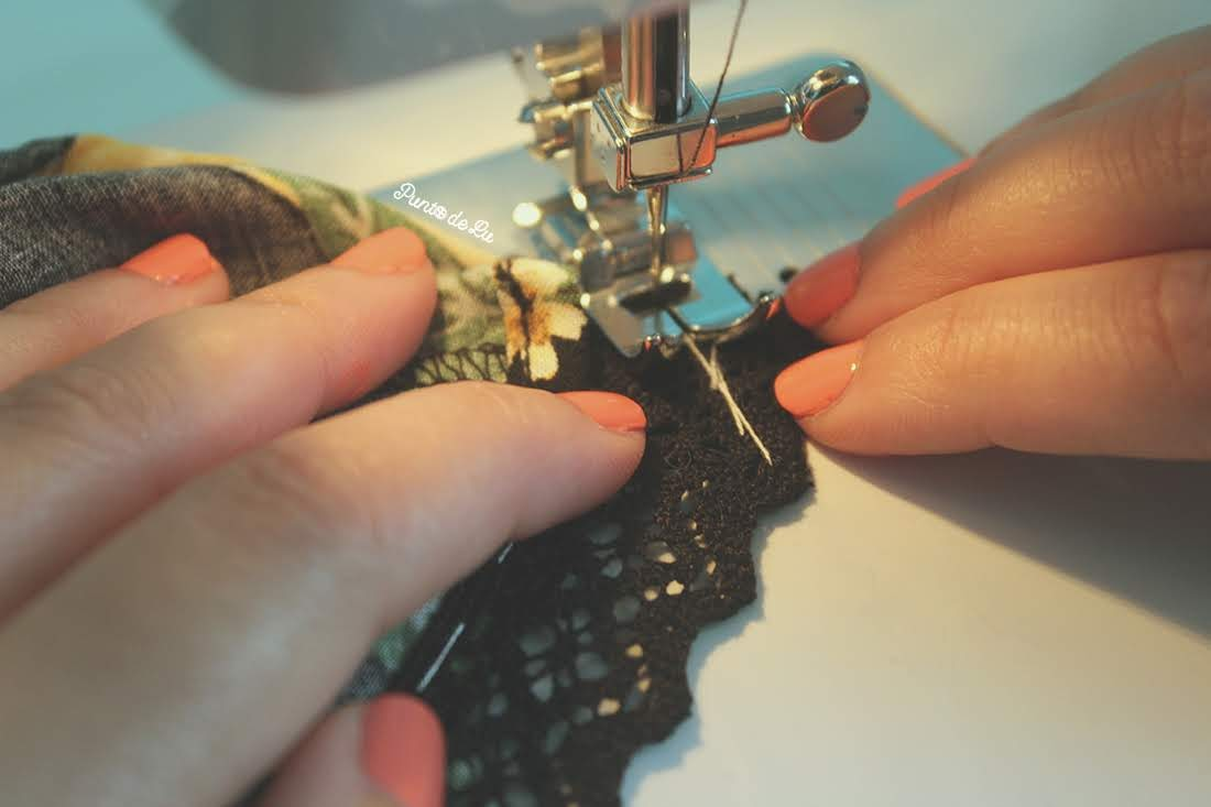 Costura fácil - Customiza un pantalón corto con encaje