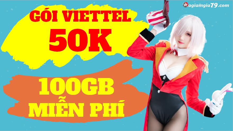 Cách đăng ký Viettel 50K 100GB