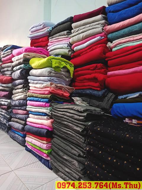 hình ảnh chuyên bán vải ký nỉ 1 da, 2 da và da cá cho xưởng may có nhu cầu sản xuất áo khoác tại đồng nai