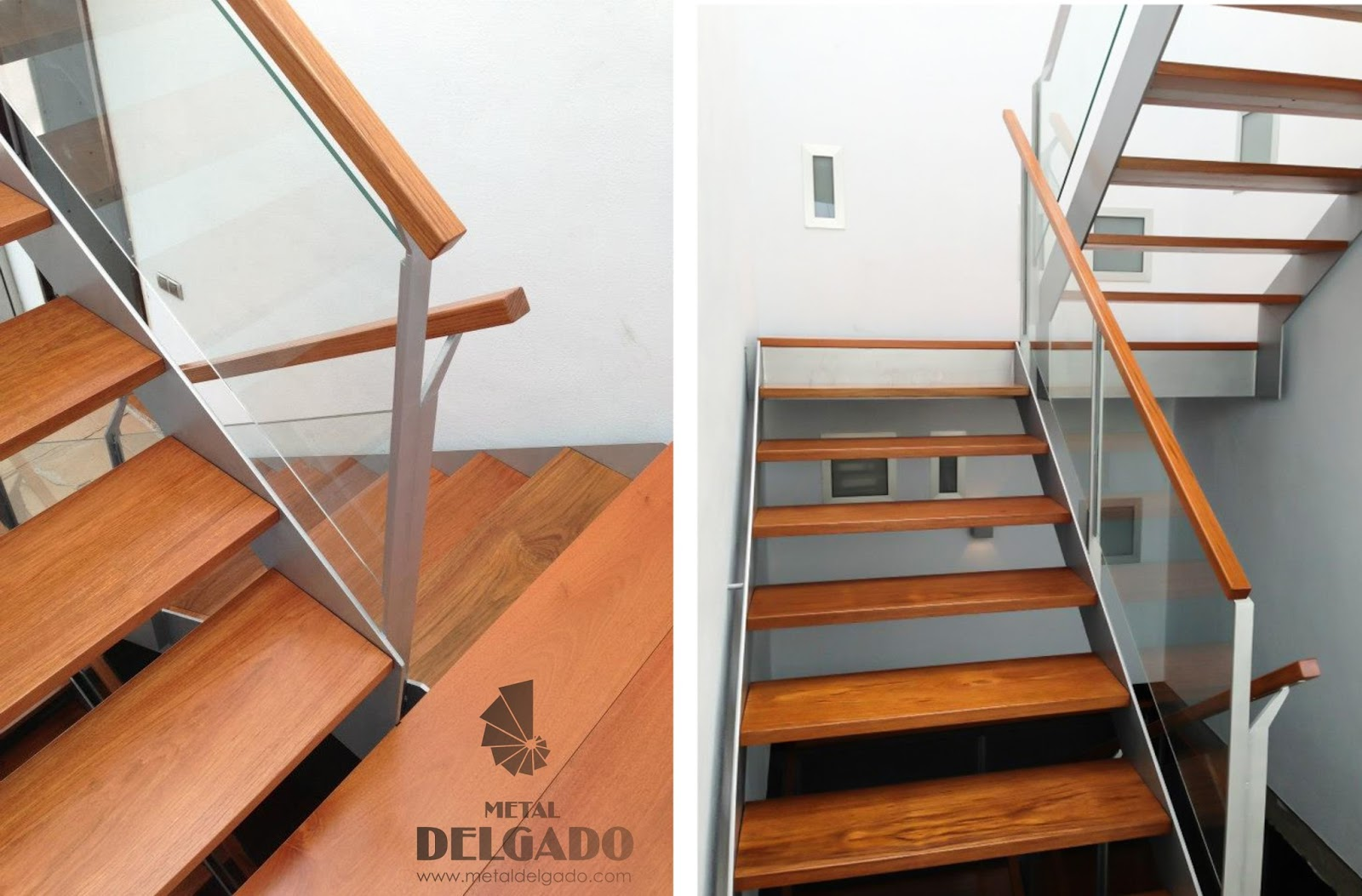 Precio escalera metalica comprar escalera recta madera for Escalera en l