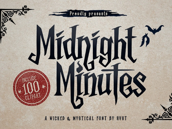 Midnight Minutes Wicked And Mystical Font