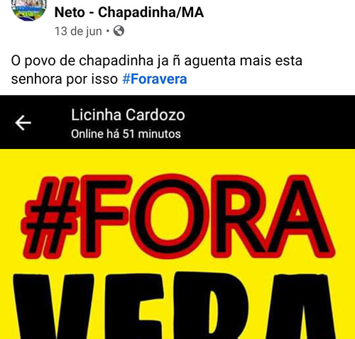 Campanha 'Fora Vera', pelo afastamento da presidente da Câmara