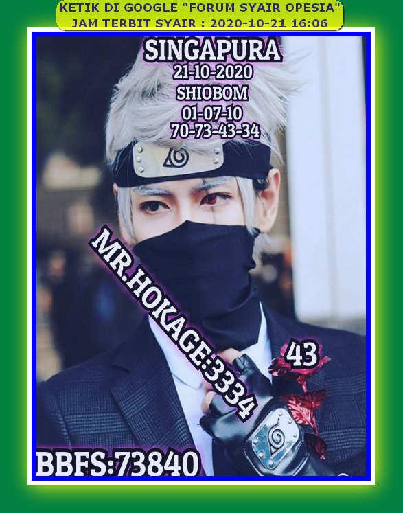 Kode syair Singapore Rabu 21 Oktober 2020 80