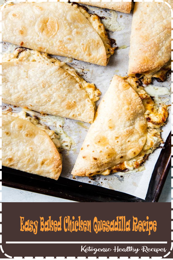 These baked chicken quesadillas are the easiest and most delicious meal-for-a-crowd! Made with shredded chicken, sour cream and plenty of cheese they are always