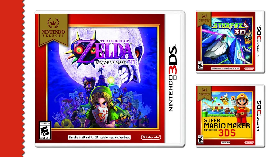 nintendo selects library classic mario zelda 3ds games