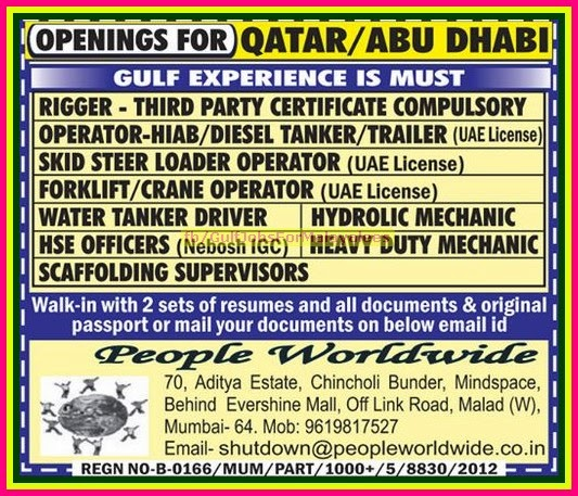 Middle East Large Job Vacancies Civil Engineer Technician Salary Florida Qatar And Abudhabi