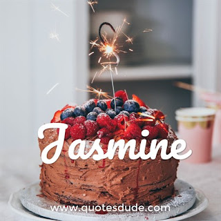 Wishing Happy Birthday Jasmine With Cake.