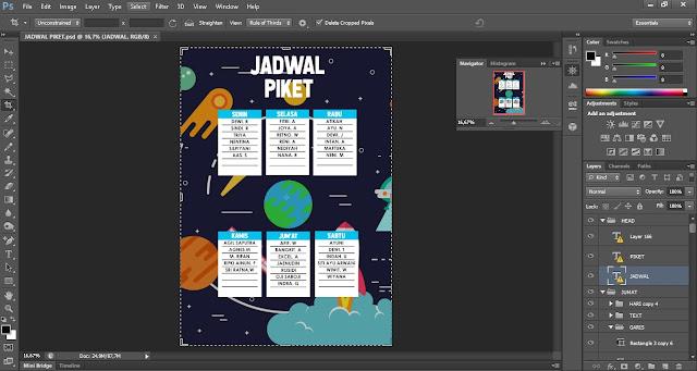 Desain Jadwal Piket Unik, Kreatif, dan Minimalis Cocok Untuk di Tempel di Kelas