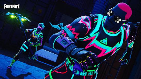 Fortnite Battle Royale - Skin Liteshow Neon Time - Full HD 1080p