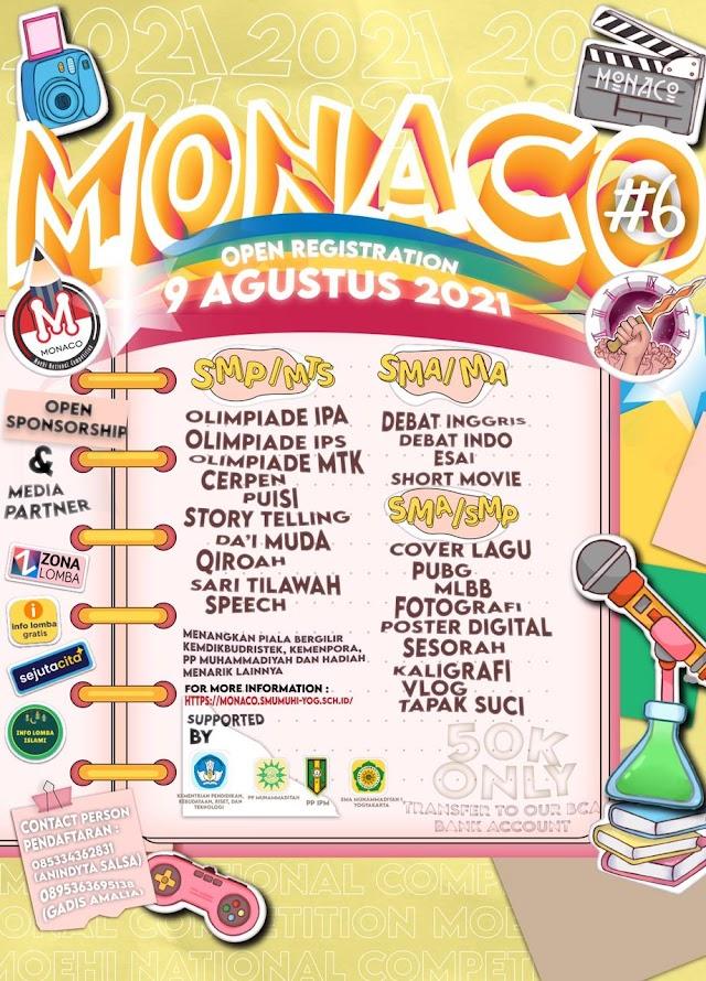 Siswa SMP dan SMA Sederajat di Indonesia, Ditantang Ikuti Moehi National Competition (MONACO) Tahun ke 6