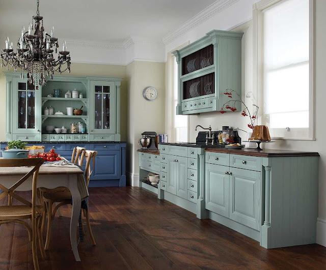 Cômodas como armários e bancadas de cozinha