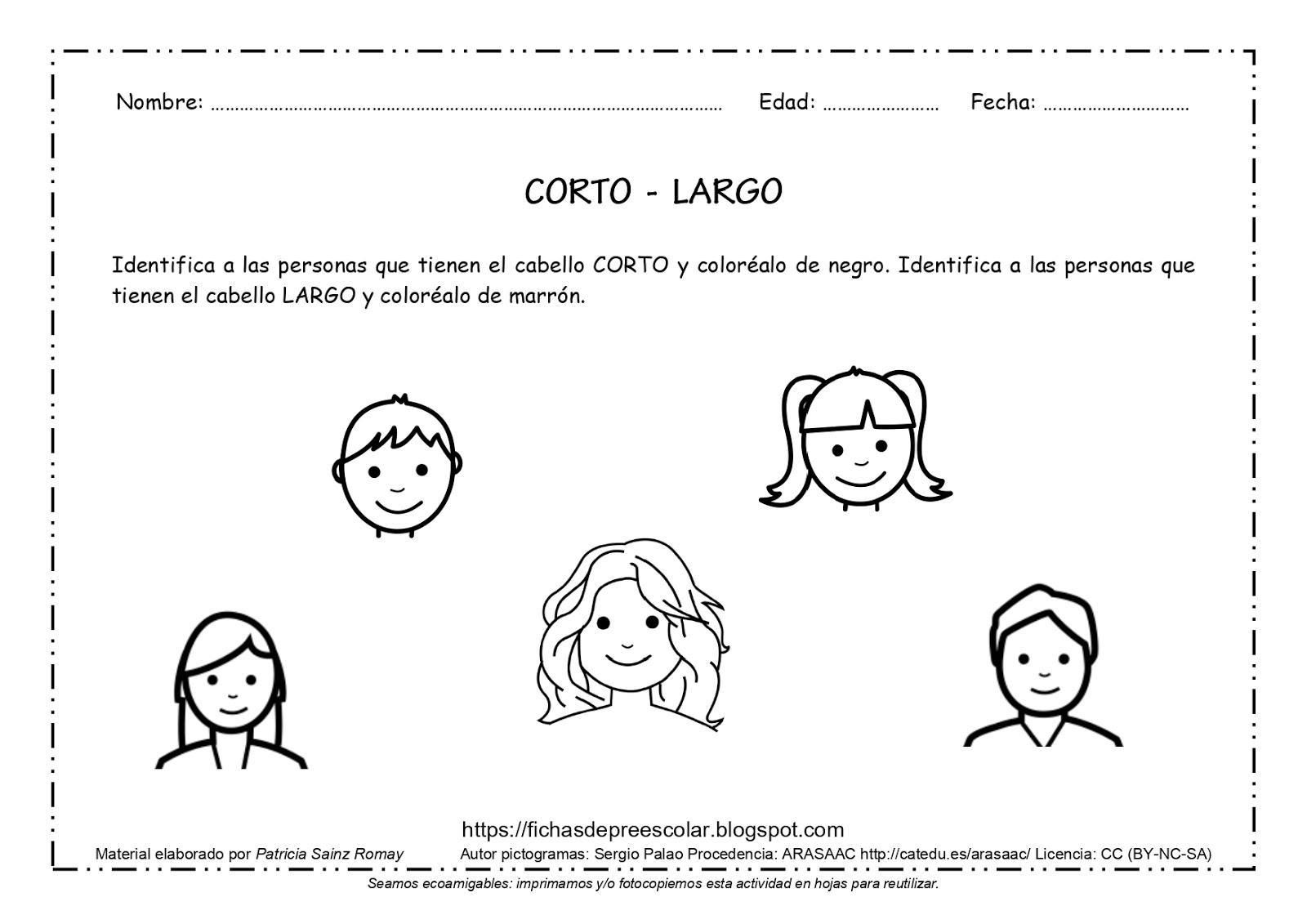 Fichas De Educación Preescolar Fichas De Conceptos Básicos