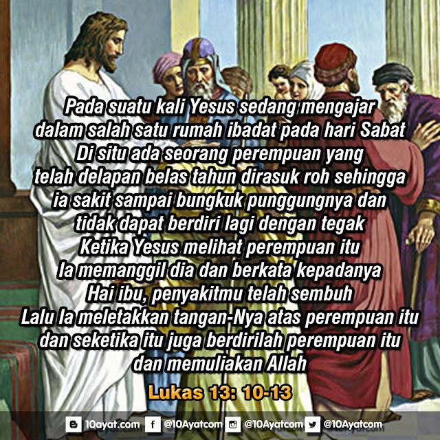 Lukas 13: 10-13