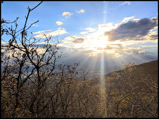 Cool God Rays from the Curley Springs Trail - Dry Canyon Lindon