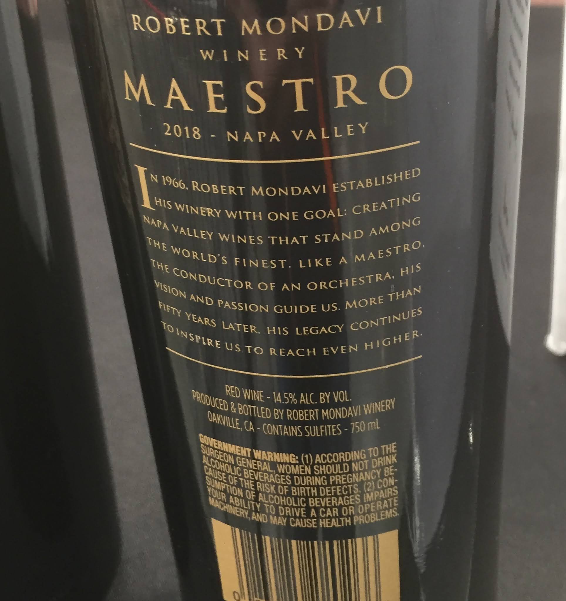 Costco 1077392 - Robert Mondavi Winery Maestro Red Blend: great for any wine lover